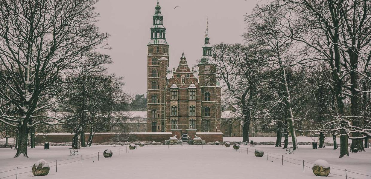 Copenhagen's Rosenborg Castle in winter