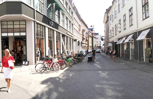 Pilestræde shopping street in Central Copenhagen