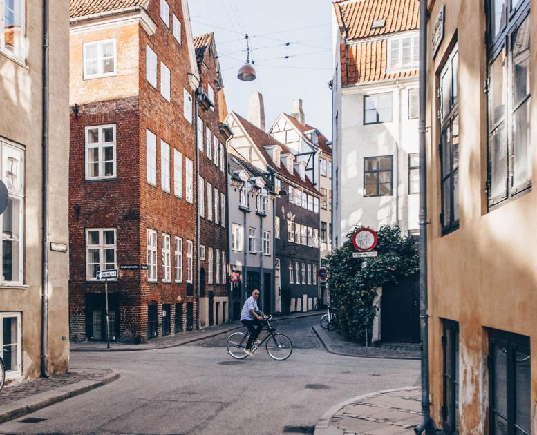 Biking in central Copenhagen