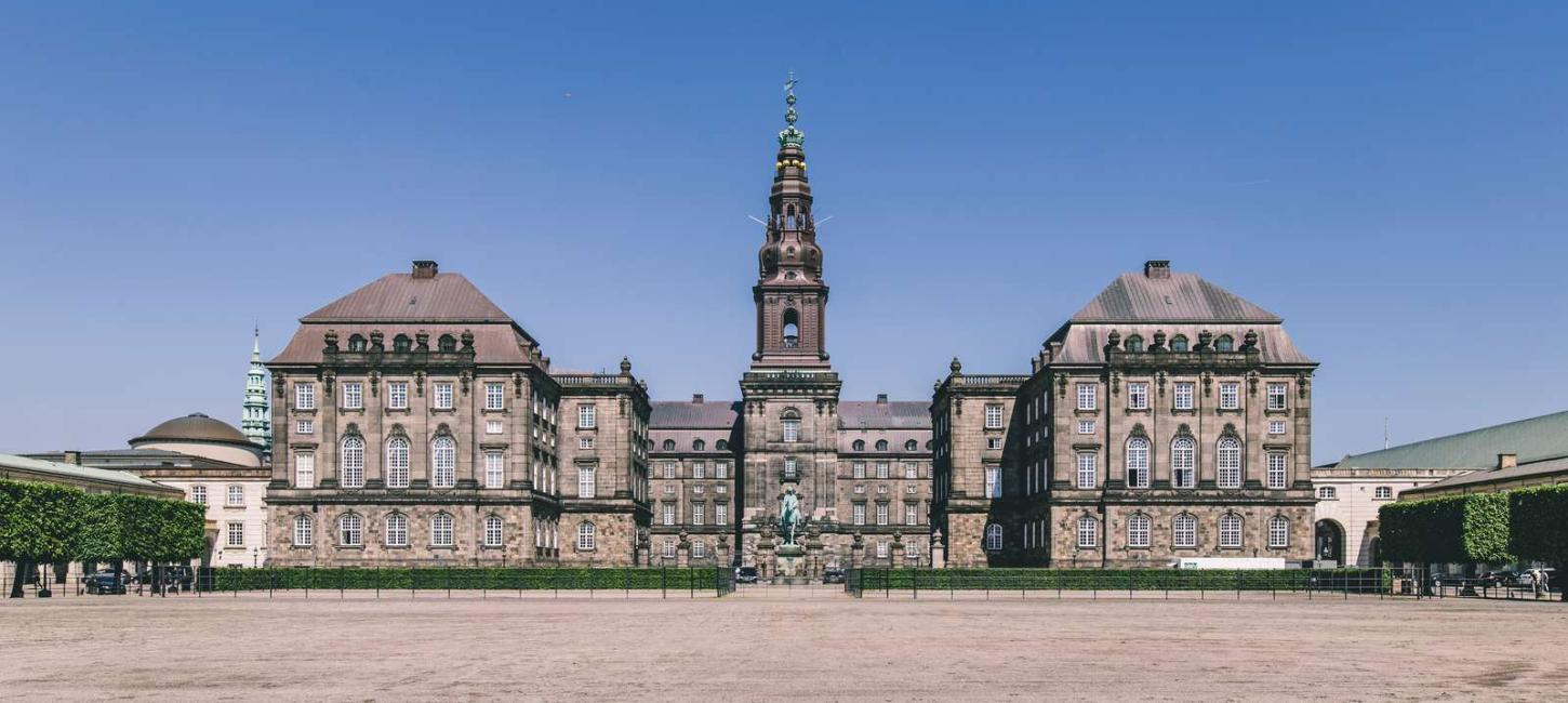 The historic Christiansborg Palace in Copenhagen