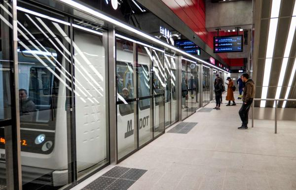 Metro station in Copenhagen